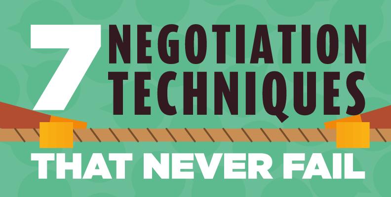 7 Negotiation Techniques That Never Fail