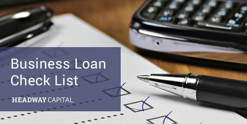 Business Loan Check List