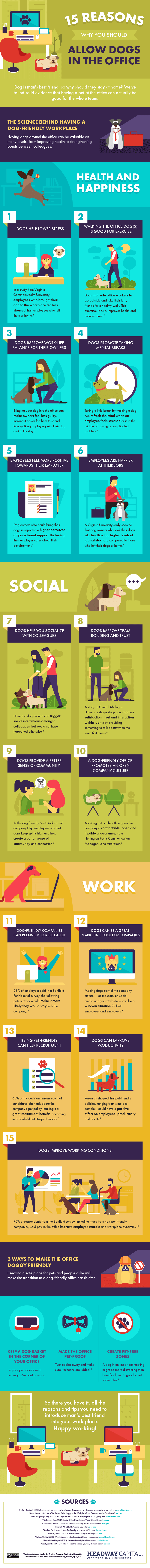 15 Reasons Why You Should Allow Dogs in the Office Infographic